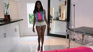 Young black babe Adriana Malao