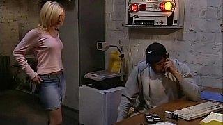 Hotvideosx Cute blonde girl having sex at work