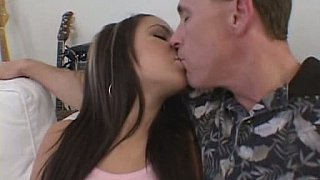 Hotvideosx Brunette girl gets fucked and facial