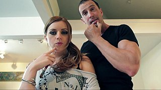 Young Lexi Belle gets on her knees to give head