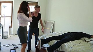 Hotvideosx Helping his ill pal in the house and fucking his mom