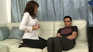 Hotvideosx So Dane goes to Billy's mom to fuck her