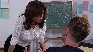 Hotvideosx Studying my teacher's pussy