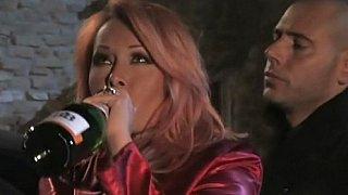 Hotvideosx Drunk redhead Italian MILF having sex by candlelight