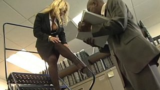 Hotvideosx Busty blonde office girl gets fucked by black cock