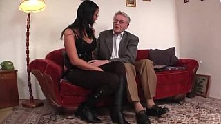 Hotvideosx Young college girl licked and fucked by old man