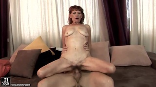 MILF hottie Irene takes a dick in both holes