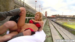 Nathaly has outdoor sex with her brother