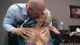 Epic sex time at work with Emma and Johnny
