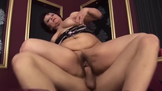Juicy mature ass for young stud
