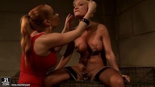 Katy Borman torturing a blonde hottie chick
