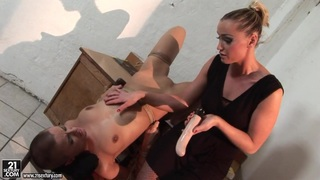 Kathia Nobili and C J force to do dildo sucking
