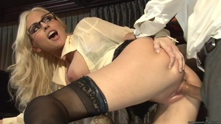 Horny Christie Stevens enjoys a rough anal pounding