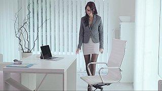 Naughty secretary having a little surpise