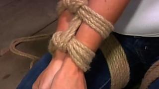Blonde slave in bondage very hard Session