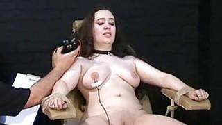 Merciless electro torture of chubby Nimue Allen