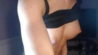 Oiled sexy body hot teasing