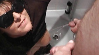 Pissing on naughty slutwife