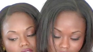 Gorgeous Identical Twins. Ebony French twin tease.