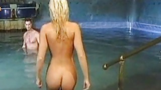 Blondie gets fucked anally at the pool