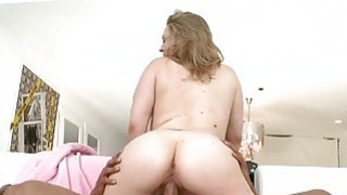 Beauty is pleasuring a massive rod with blowjob