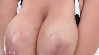 Curvaceous cutie sucks on men rod hungrily