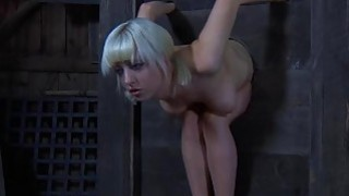 Tough gal in shackles gets her cumhole pumped