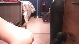 Teen like it big black toy in pussy on webcam