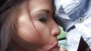 Pretty teen Niki Sweet fucked and jizzed in public place