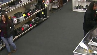 Two Thieving Hot Bitches At The Pawnshop