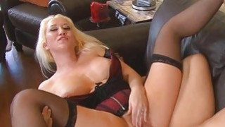 Sweet Alana Evans fucking a large meaty hard pole