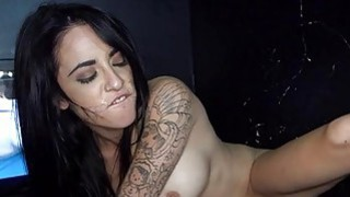 Sweetheart is hungry for facial cumshot delights