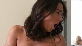 MILF Nina Elle face fucked Amara Romani wearing strapon toy