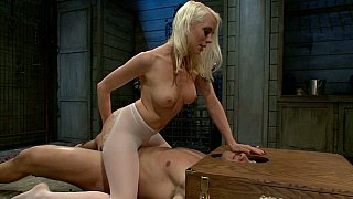Hotvideosx Confirming the cock is deep inside her pussy