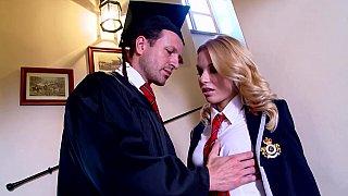 Hotvideosx Slutty Student Fucks Her Hot professor on Stairways