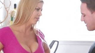 Big tits blonde milf Alexis Fawx gets banged by her stepson