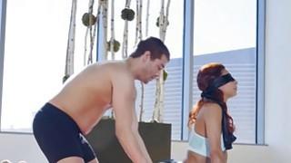 Latina Jade  got double penetrated while blindfolded