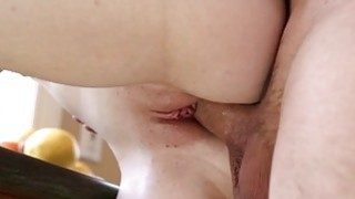 Stepsis Abi Grace pounded in the kitchen