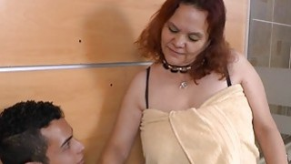 Old and fat bbw mature latina enjoying licking