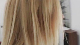 Ike fucks Alexa Graces shaved pussy doggystyle from behind