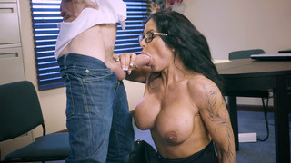 Huge breasted mom Simone Garza sucking that ice cream machine
