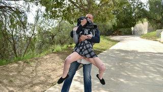 Innocent schoolgirl getting snatched