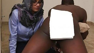 Arab slut rides on top of a cock