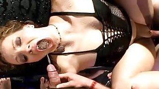 Fascinating darlings studs with wet blowjobs