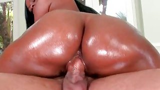 White guy is sticking his cock inside a black babe