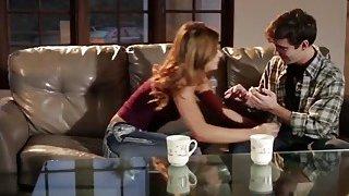Natural redhead stepsister in romantic passionate intercourse