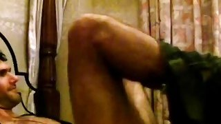 African slut riding long white cock like cowgirl