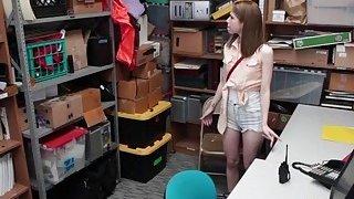 Skinny teen thief Alina West gets a facial