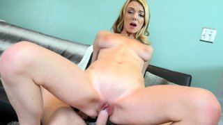 Cute blonde Molly Mae riding hard cock in POV