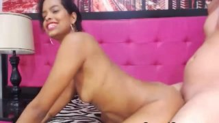 Brunette Hottie Gets Load Of Cum On Her Ass After